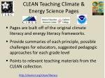 clean teaching climate energy science pages