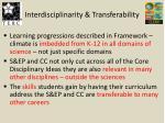 interdisciplinarity transferability
