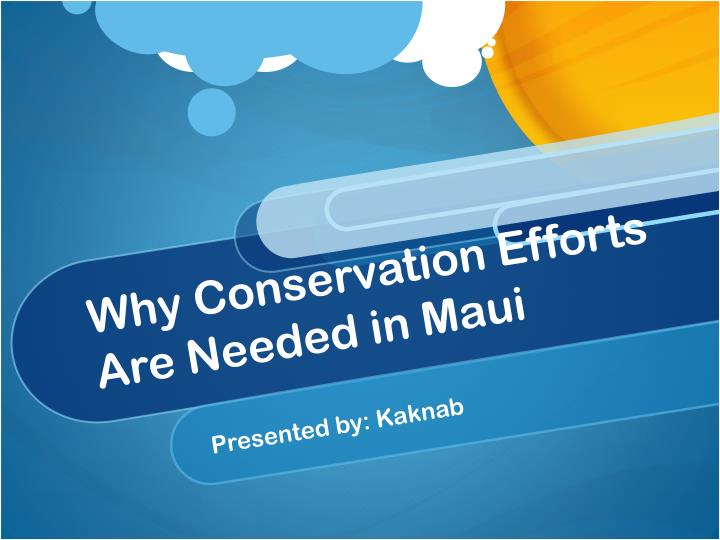 why conservation efforts are needed in maui n.