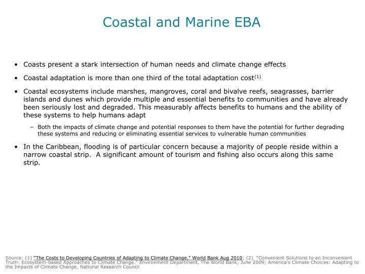 Coastal and Marine EBA