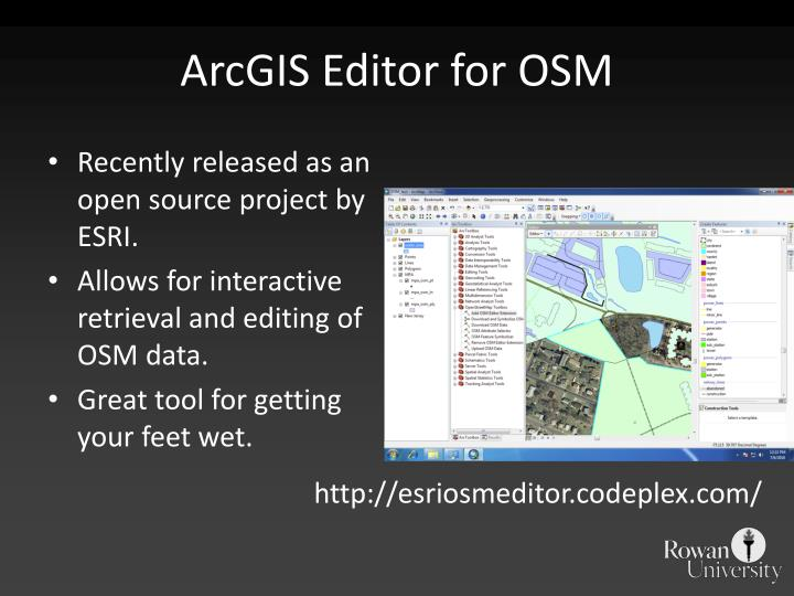 ArcGIS Editor for OSM