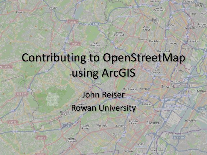 Contributing to openstreetmap using arcgis