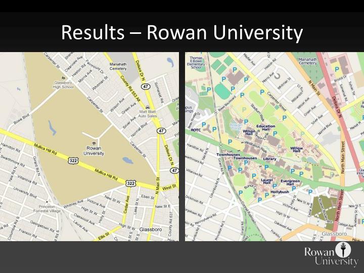 Results – Rowan University