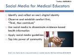 social media for medical educators