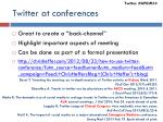 twitter at conferences