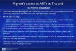 migrant s access to arts in t hailand current situation