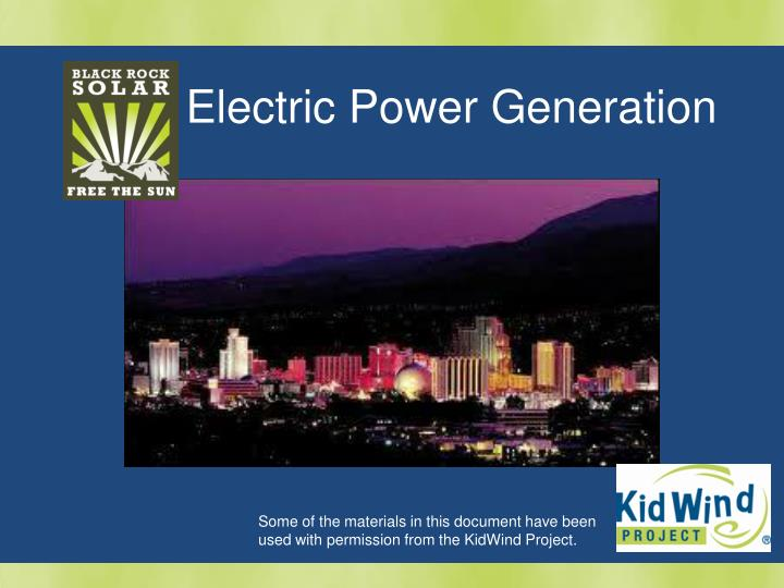 Electric Power Generation