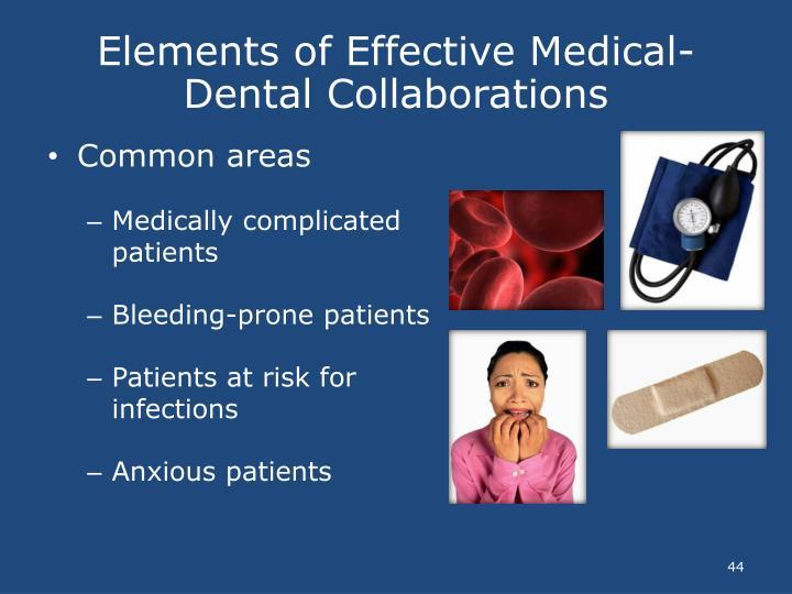 Elements of Effective Medical-Dental Collaborations