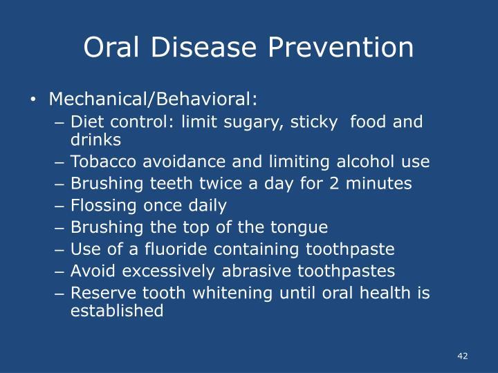 Oral Disease Prevention