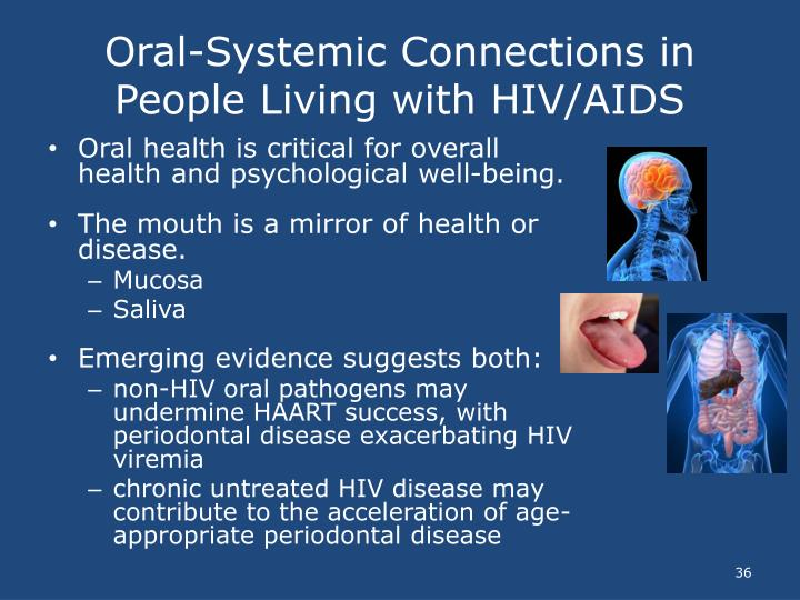 Oral-Systemic Connections in People Living with