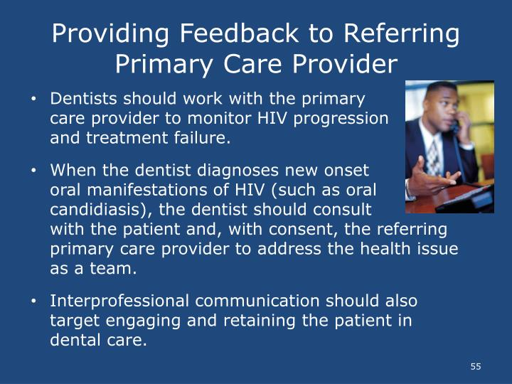 Providing Feedback to Referring Primary Care