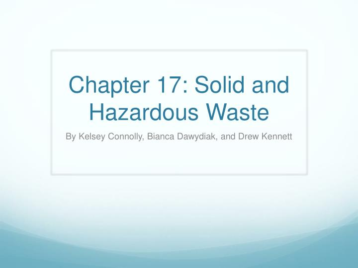 chapter 17 solid and hazardous waste n.