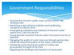 government responsibilities