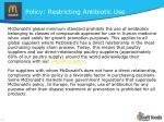 policy restricting antibiotic use