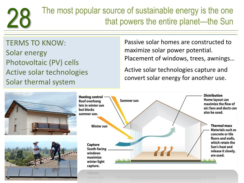 PPT - CHAPTER 28 SUN, WIND, AND WATER ENERGY FUELED BY THE