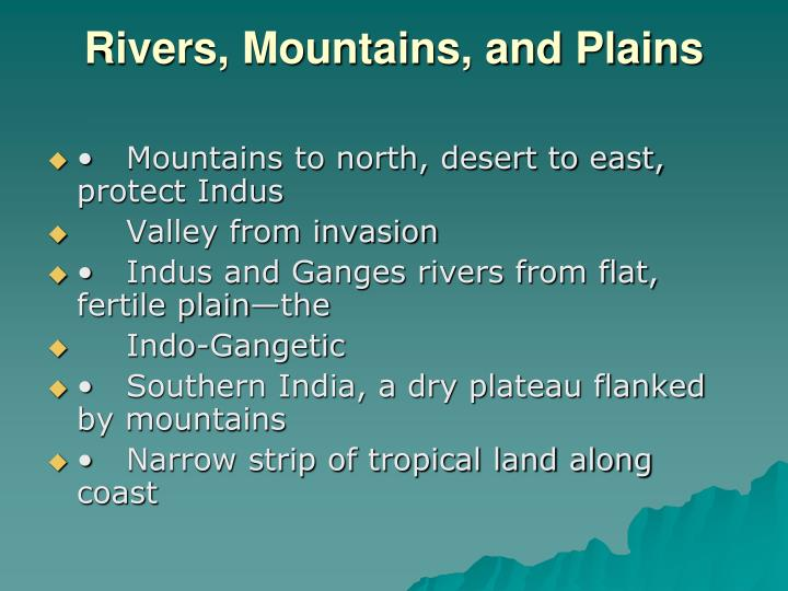 Rivers, Mountains, and Plains