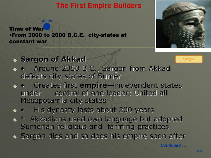 The First Empire Builders