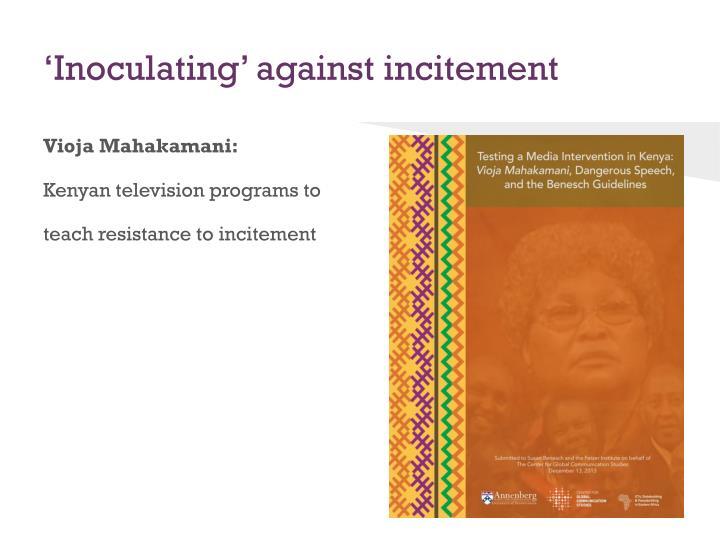 'Inoculating' against incitement