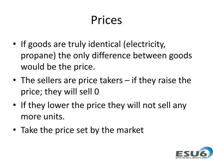 Prices