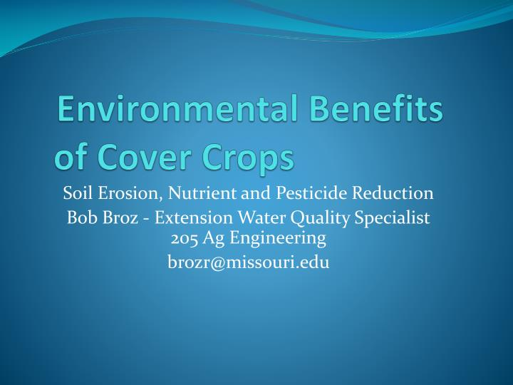 environmental benefits of cover crops n.
