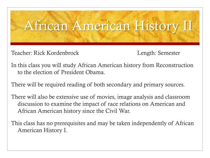 African American History II