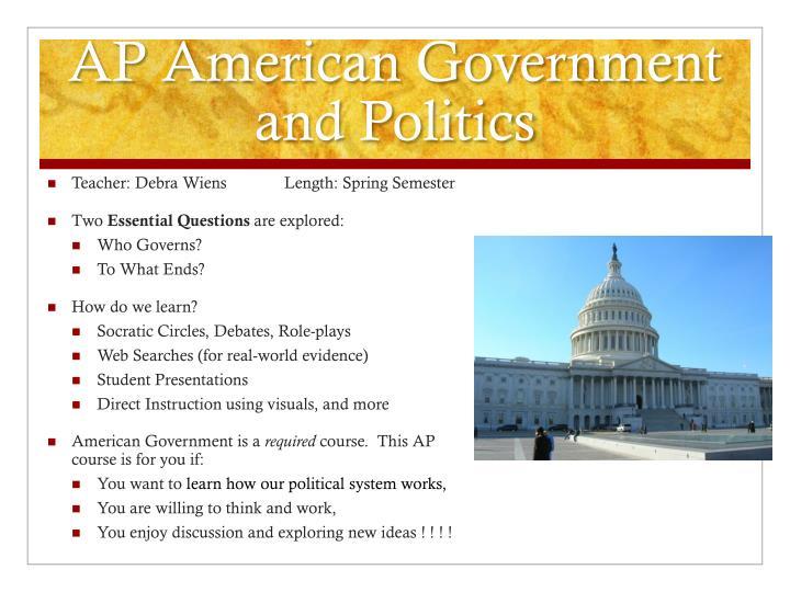 AP American Government and Politics