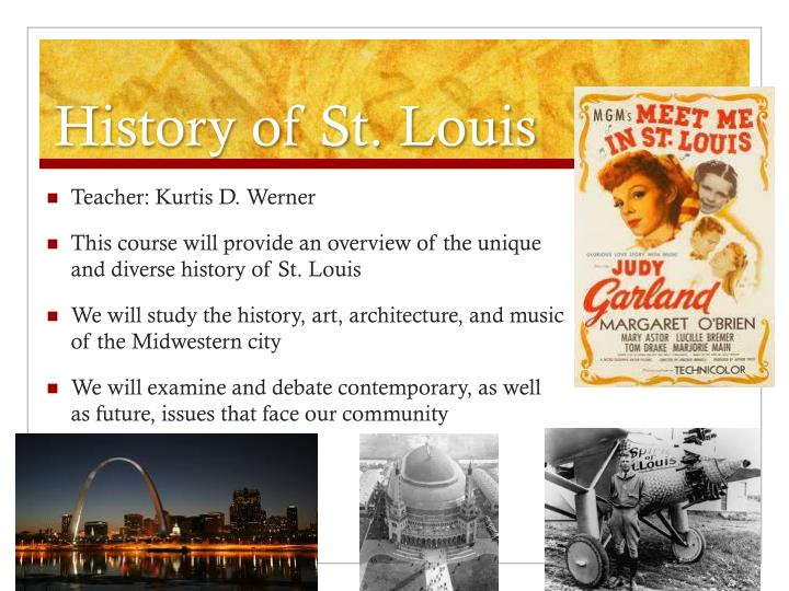 History of St. Louis