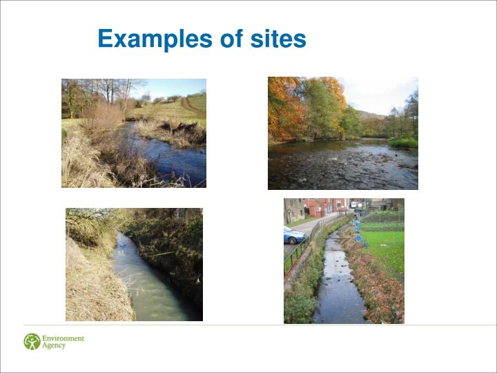 Examples of sites