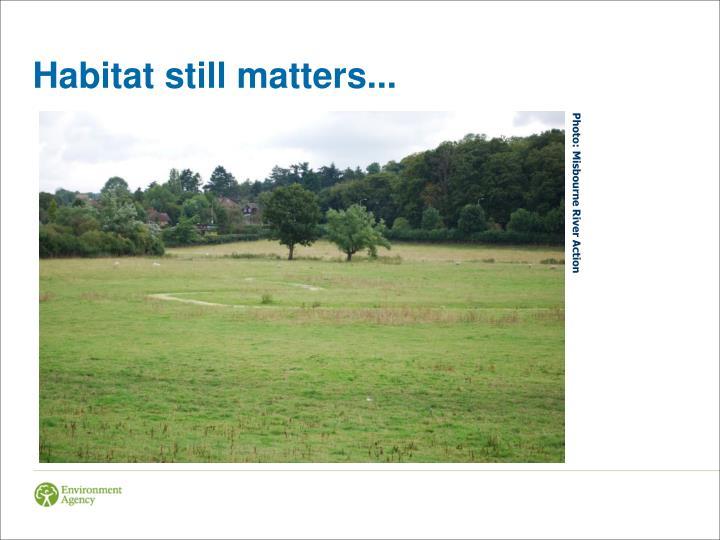 Habitat still matters...