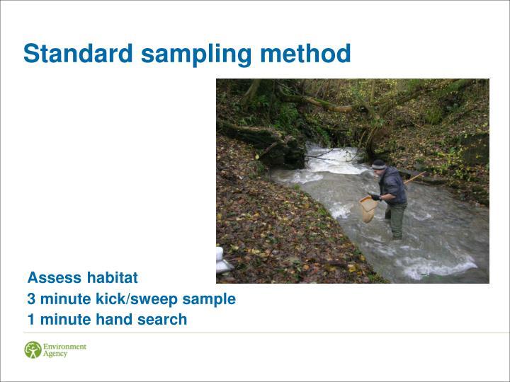 Standard sampling method