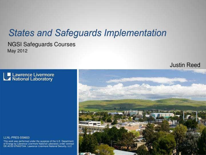 States and safeguards implementation