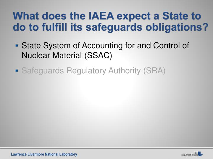 What does the IAEA expect a State to do to fulfill its safeguards obligations?