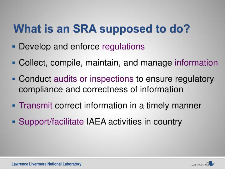 What is an SRA