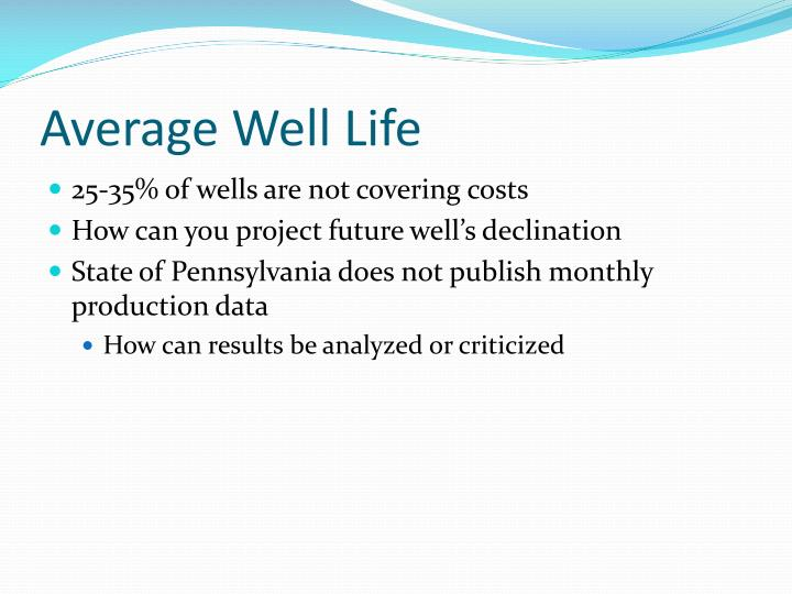 Average Well Life