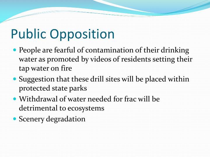 Public Opposition