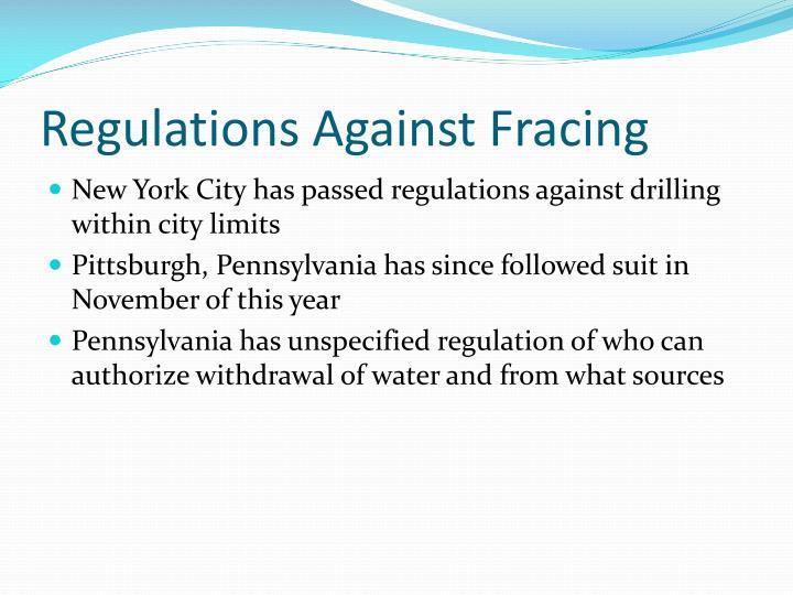 Regulations Against