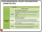 inter departmental project implementation committee ipic