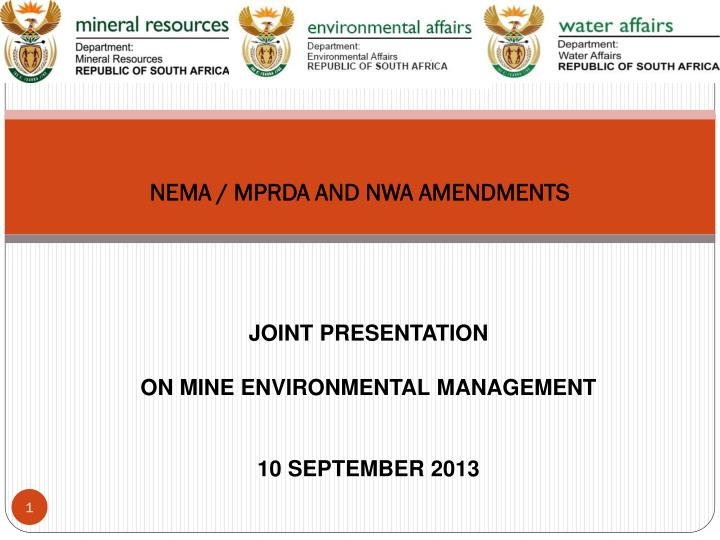 nema mprda and nwa amendments n.