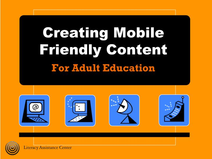 creating mobile friendly content n.