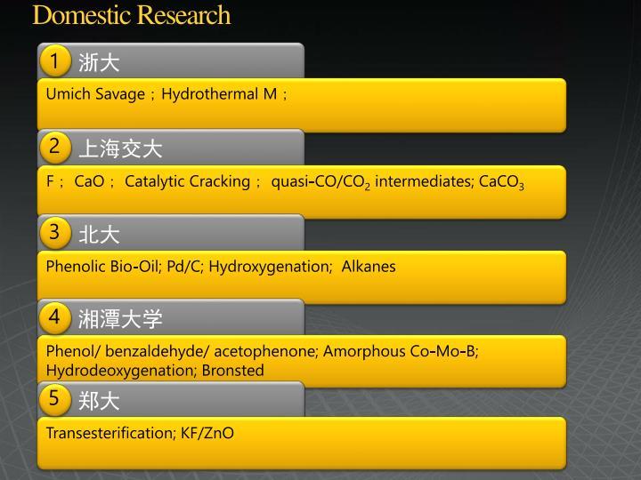 Domestic Research