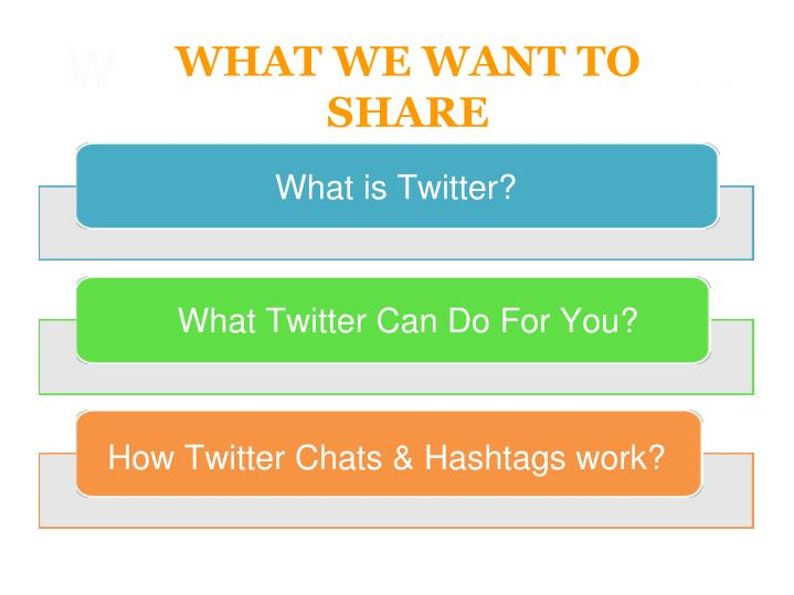 WHAT WE WANT TO SHARE