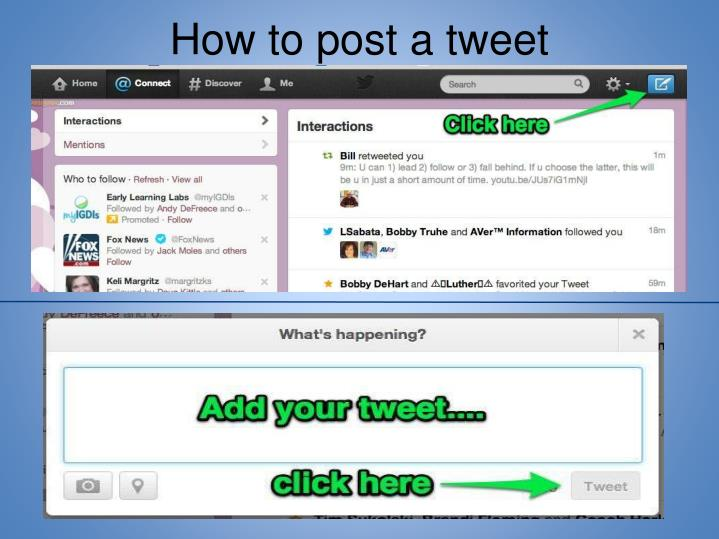 How to post a tweet