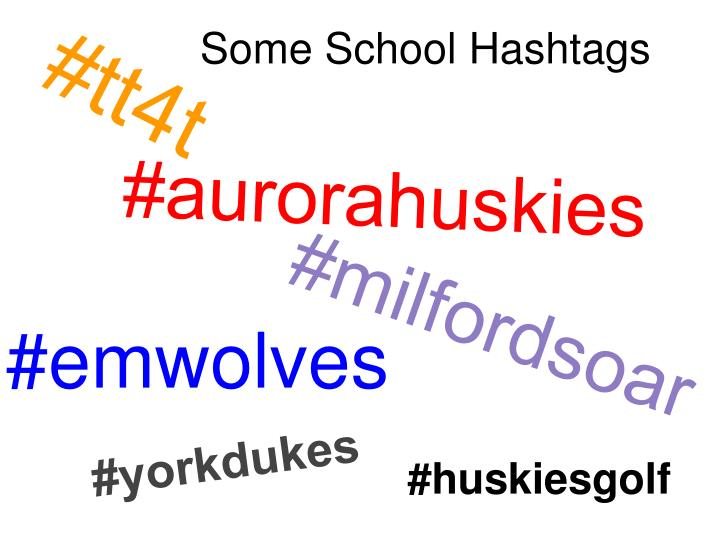 Some School Hashtags