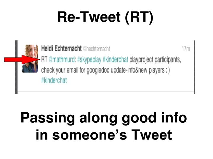 Re-Tweet (RT)