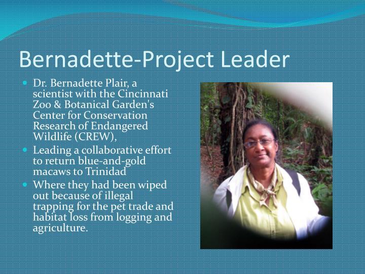 Bernadette-Project Leader