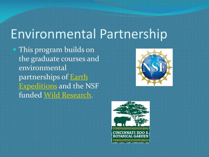 Environmental partnership