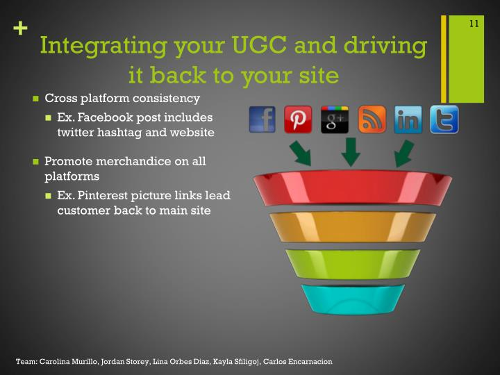 Integrating your UGC and driving it back to your site