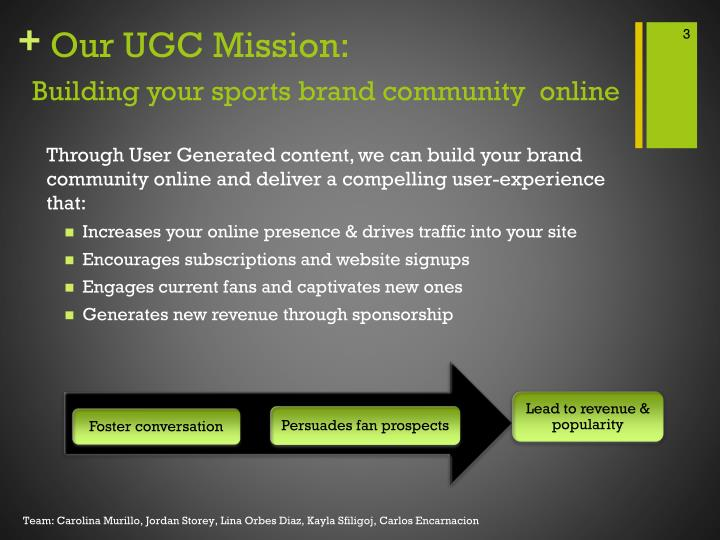 Our ugc mission building your sports brand community online