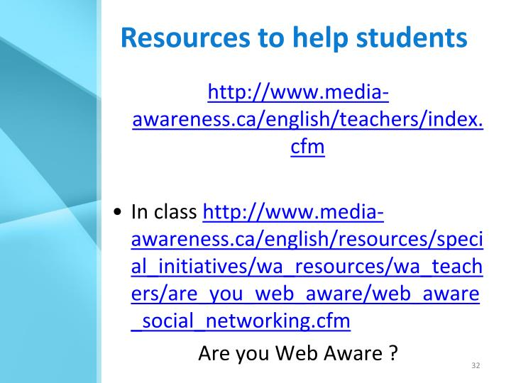Resources to help students