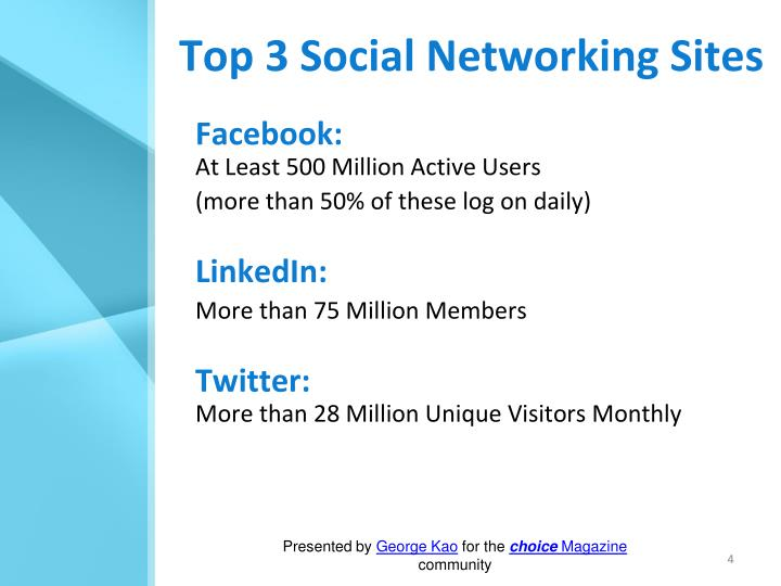 Top 3 Social Networking Sites